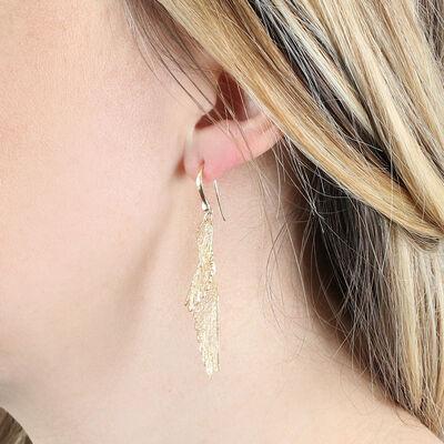 Filigree Wing Earrings 14K