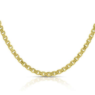 Diamond Cut Box Chain 14K, 18""