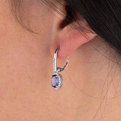 Tanzanite & Diamond Earrings 14K
