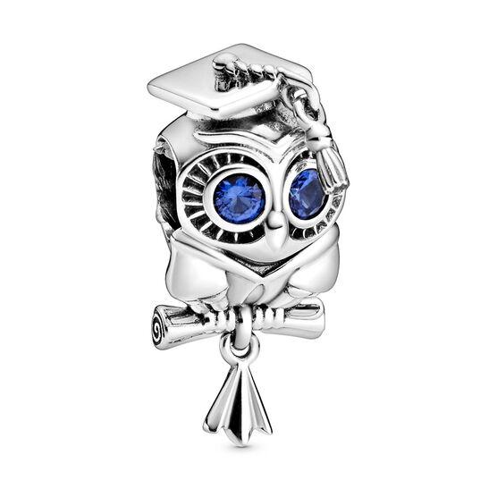 Pandora Wise Owl Graduation Crystal Charm