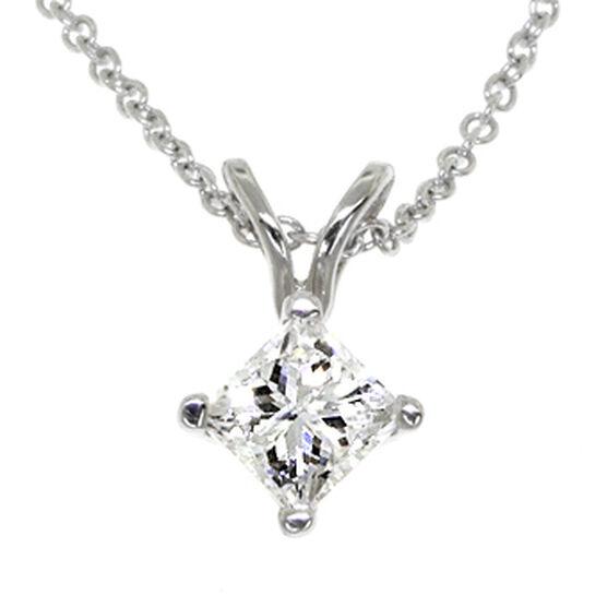 Princess Cut Diamond Pendant 14K, 1/2 ct.
