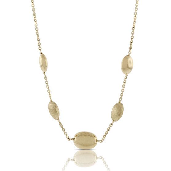 Toscano Pebble Station Necklace 18K