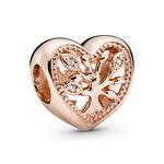 Pandora Rose™ Openwork Family Tree Heart CZ Charm