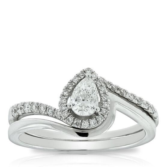 Pear Diamond Bridal Set 14K