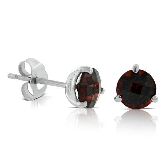 Garnet Earrings 14K, 6mm