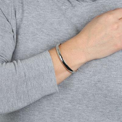 Toscano Oval Bangle Bracelet 14K