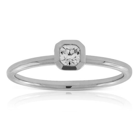 Signature Forevermark Black Label Square Diamond Engagement Ring 18K
