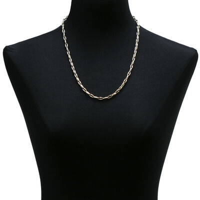 """Toscano Polished Link Necklace 14K, 24"""""""