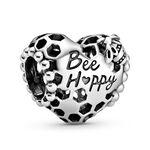 Pandora Bee Happy Honeycomb Heart Charm