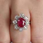 Ruby & Diamond Bold Halo Ring 14K