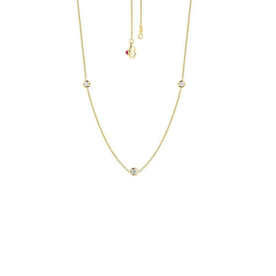 Roberto Coin Diamonds by the Inch 3-Station Diamond Necklace 18K