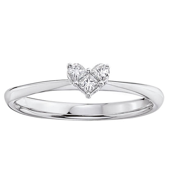 Heart Diamond Ring 14K