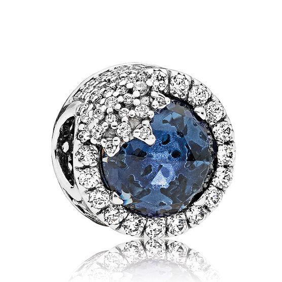 PANDORA Dazzling Snowflake Blue Crystal & CZ Charm
