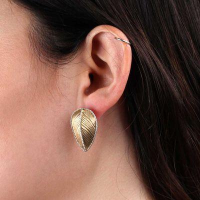 Toscano Leaf Earrings 14K