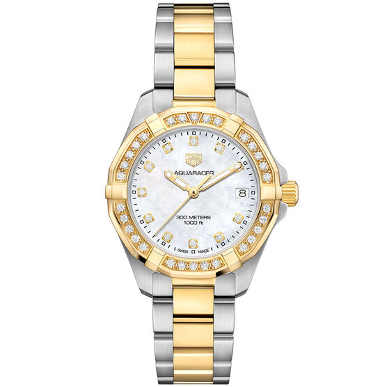 TAG Heuer Aquaracer Two-Tone Diamond Quartz Watch