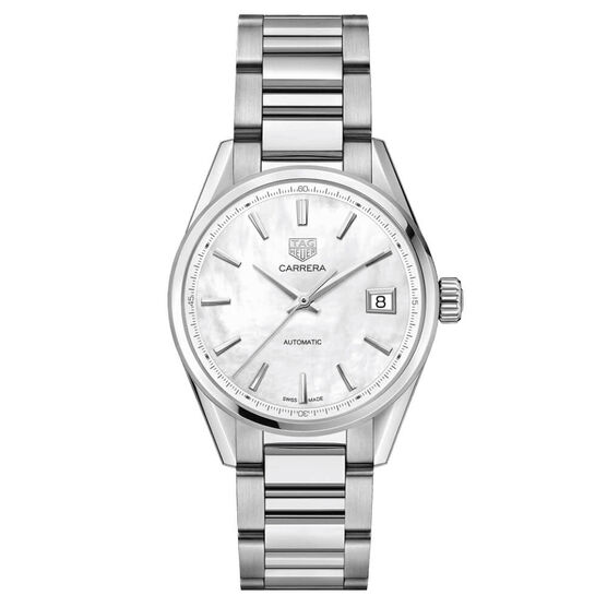 TAG Heuer Carrera Calibre 5 Automatic Ladies Mother of Pearl Steel Watch