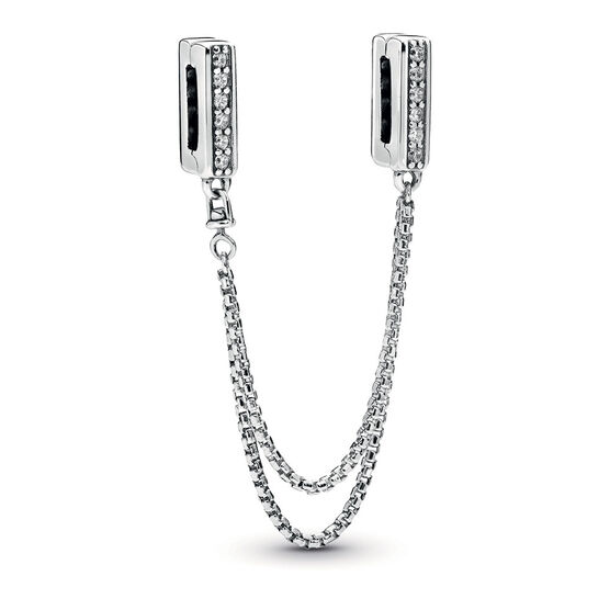 Pandora Reflexions™ Sparkling Safety Chain CZ Clip Charm