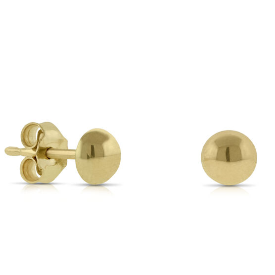 Dome Earrings 14K