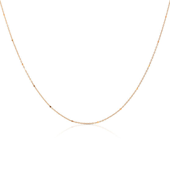 Rose Gold Rolo Cable Chain 14K, 24""