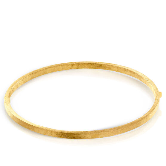 Toscano Textured Satin Bangle Bracelet 14K
