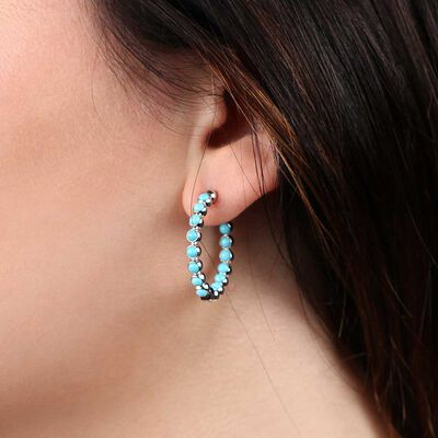 Lisa Bridge Turquoise Hoop Earrings