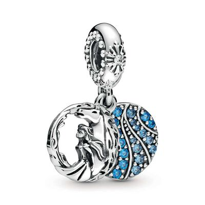 Pandora Disney, Frozen Elsa & Nokk Dangle Enamel & CZ Charm