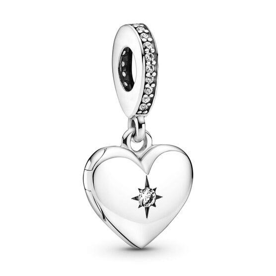 Pandora Openable Heart Locket CZ Dangle Charm