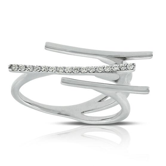 Triple Bar Diamond Ring 14K