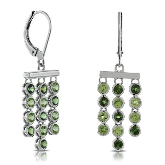 Lisa Bridge Peridot &  Tourmaline Earrings