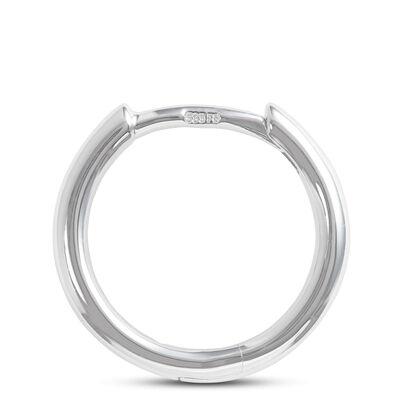 Smooth Huggie Hoop Earrings 14K
