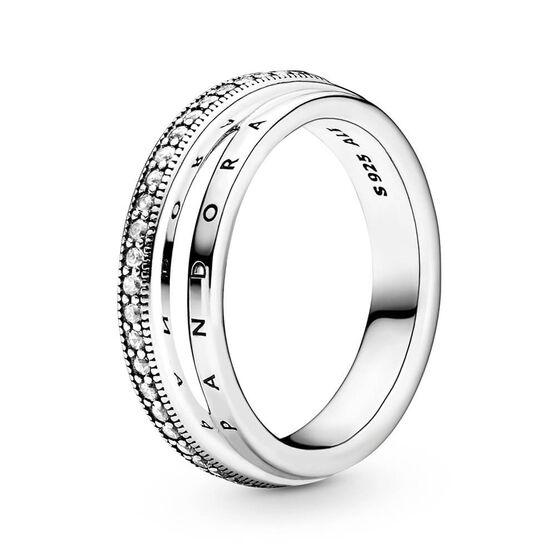 Pandora Triple Band Pavé CZ Ring