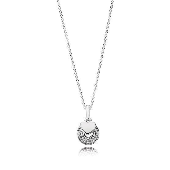 Pandora Celebration Hearts CZ Necklace