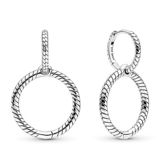 Pandora Moments Charm Double Hoop Earrings