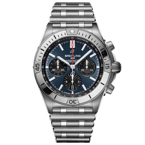 Breitling Chronomat B01 42 Blue Steel Watch, 42mm