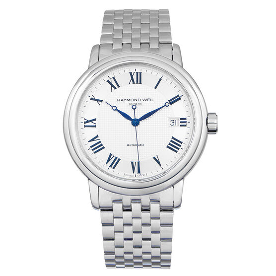 Pre-Owned Raymond Weil Maestro Silver Dial Watch, 40mm