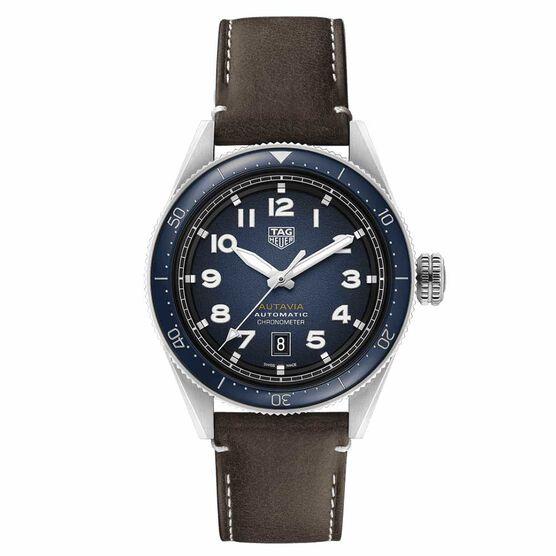 TAG Heuer Autavia Calibre 5 Chronometer Smoky Blue Dial Watch, 42mm