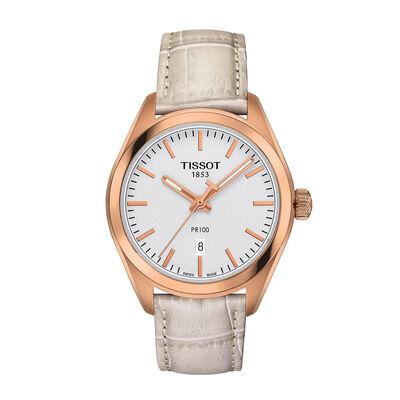 f8bee55ea74 Tissot PR 100 Lady T-Classic Rose PVD Quartz Watch