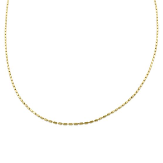 Square Bead Link Chain 14K, 20""