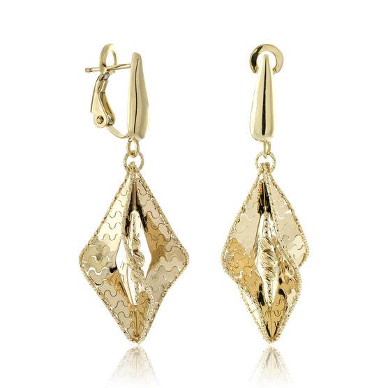 Toscano Fancy Drop Earrings 18K