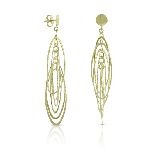 Mobile Hoop Earrings 14K