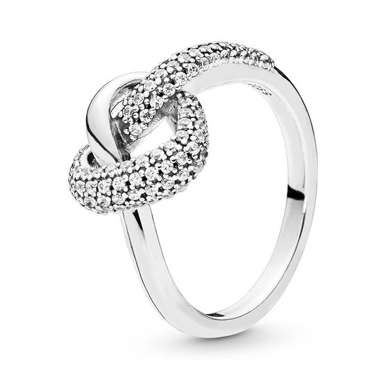 Pandora Knotted Heart CZ Ring