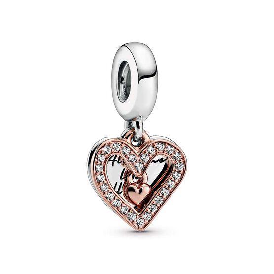 Pandora Rose™ Sparkling Freehand CZ Heart Dangle Charm