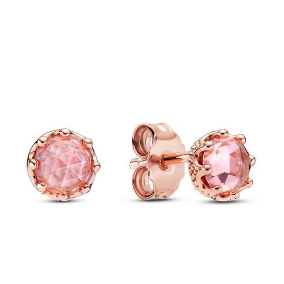 Pandora Rose™ Pink Sparkling Crown Crystal Stud Earrings