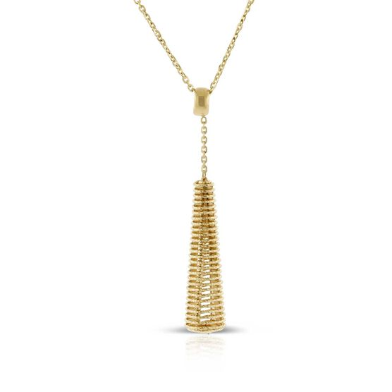 Toscano Coiled Drop Necklace 14K