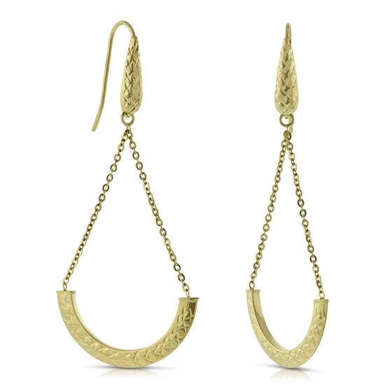 Diamond Cut Swing Earrings 14K