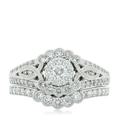 Love Eternal Diamond Bridal Set 14K