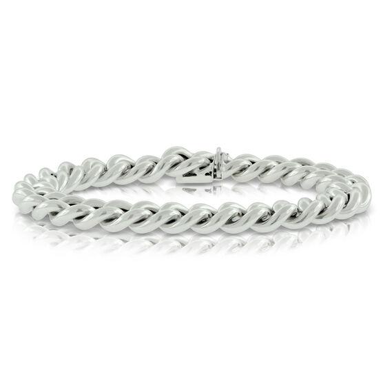 """Curb Link Bracelet 14K, 8"""""""