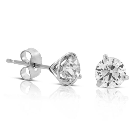 Ikuma Canadian Diamond Solitaire Earrings 14K, 1.40 ctw.