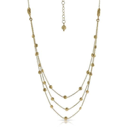 Toscano Triple Strand  Necklace 14K