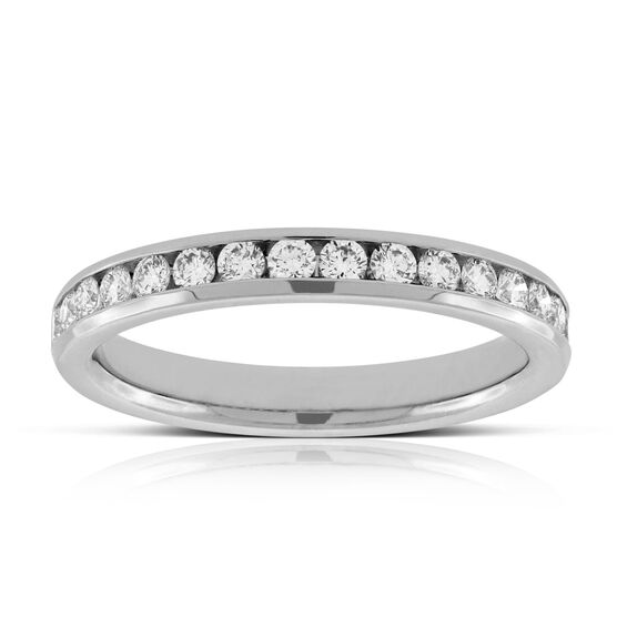 Channel Set Diamond Ring in Platinum,  1/2 ctw.
